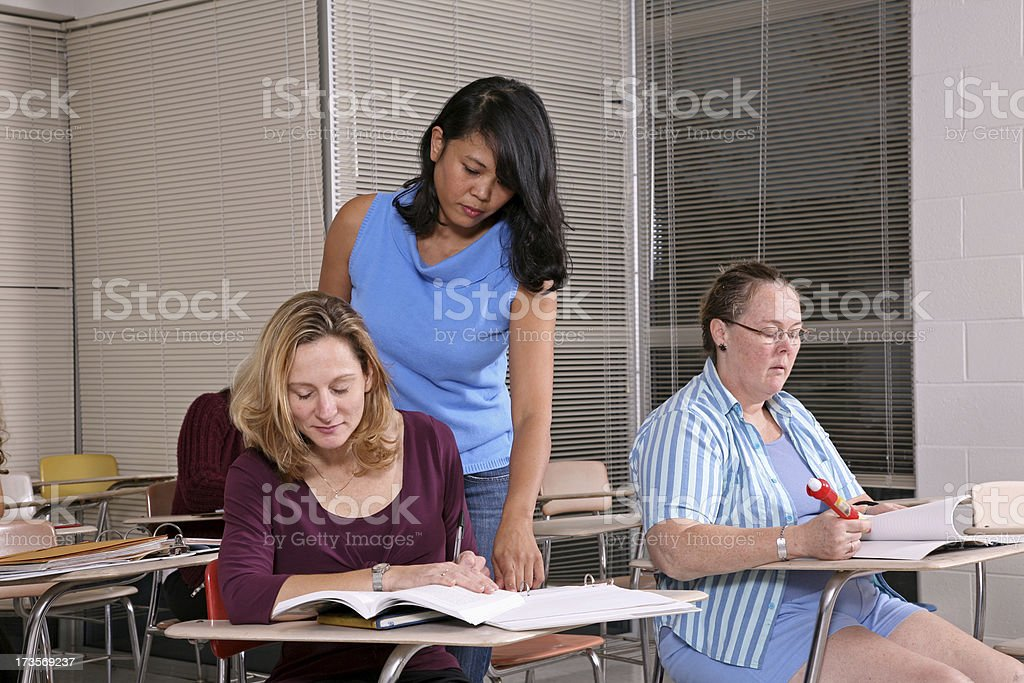 Teachers help  See other images from shoot. royalty-free stock photo