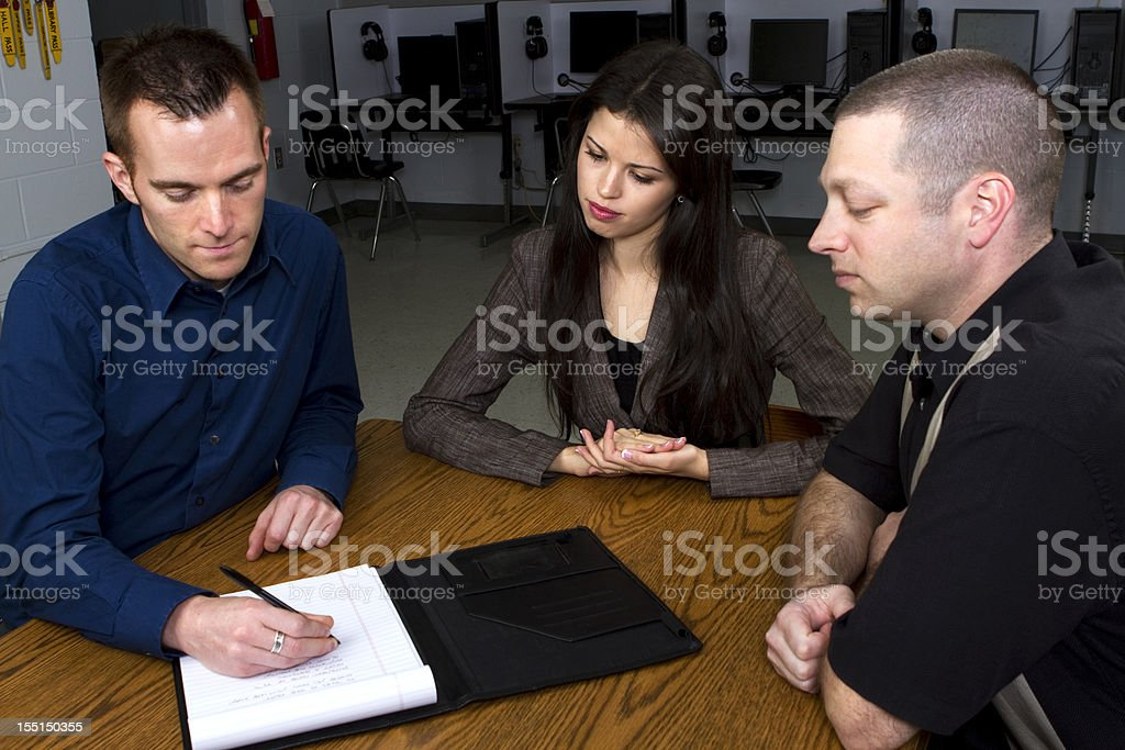 Teachers Planning in School Computer Lab royalty-free stock photo