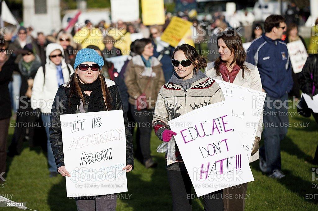 Teachers Protesting royalty-free stock photo