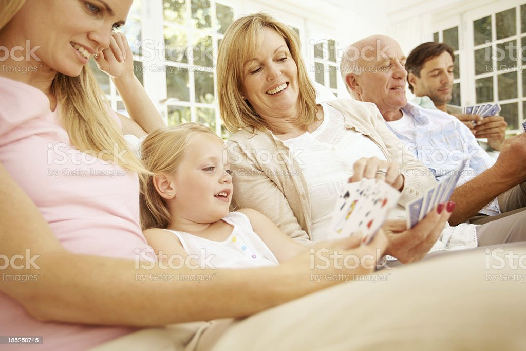 Teaching a new geneartion how to play the game royalty-free stock photo