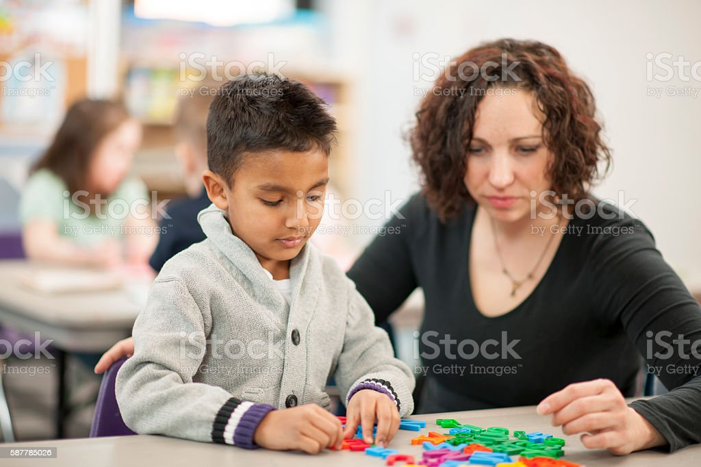 Teaching Children How to Spell stock photo