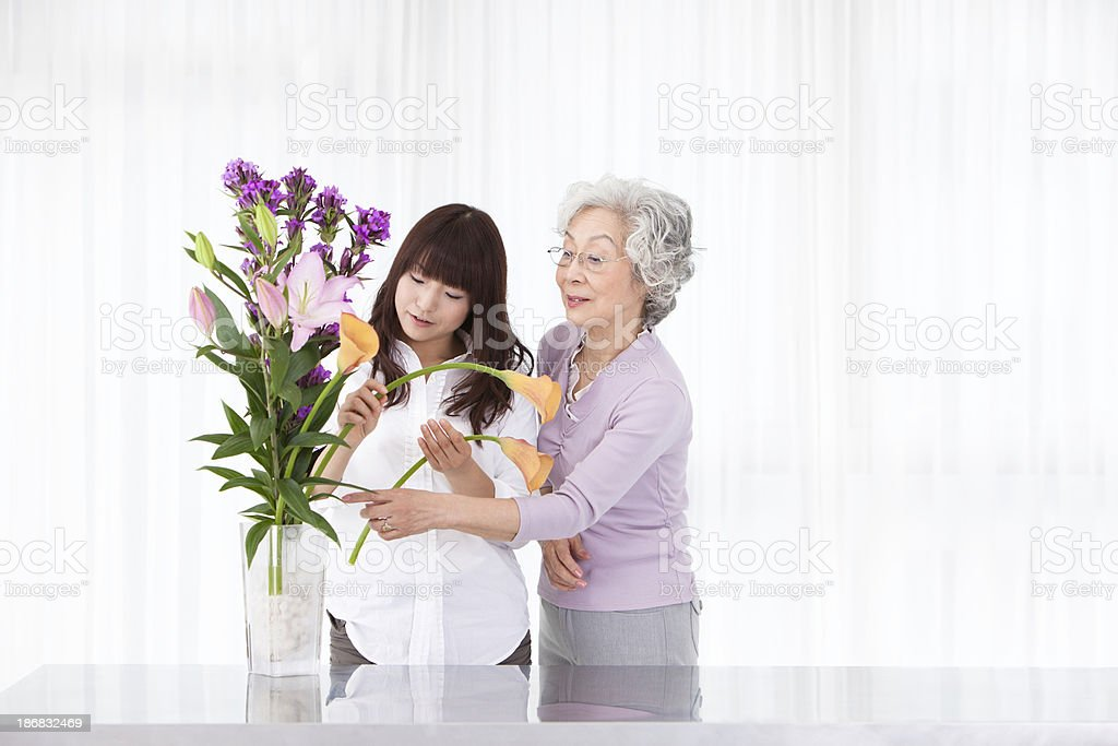 Teaching Floral Arranging royalty-free stock photo