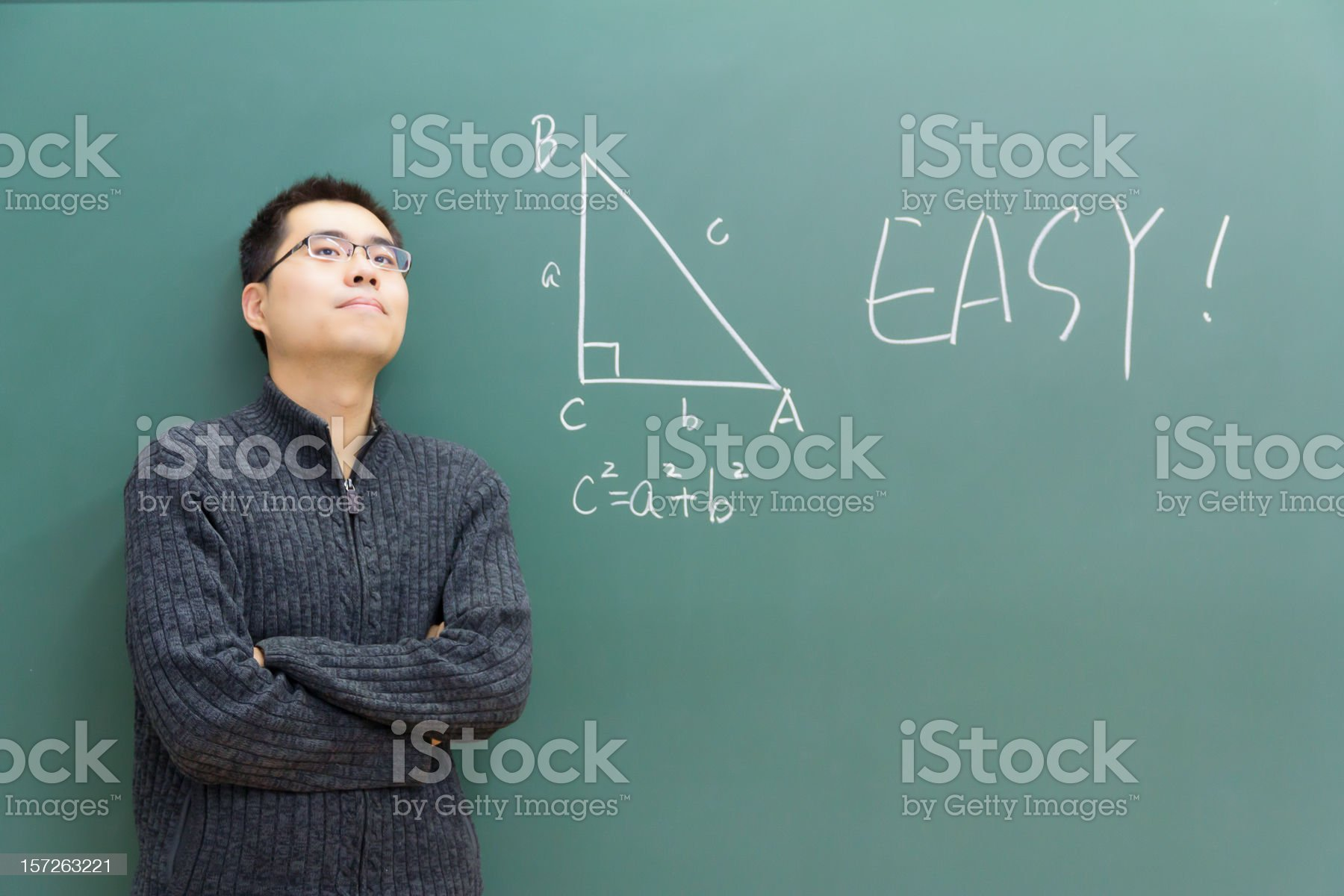 Teaching Geometry royalty-free stock photo
