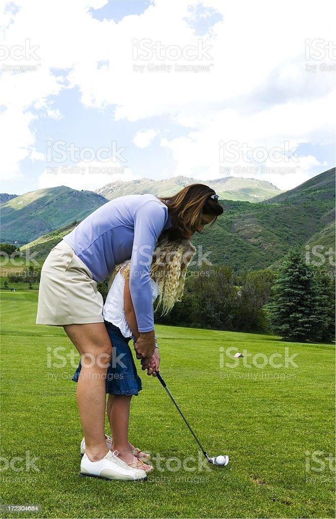 Teaching golf royalty-free stock photo