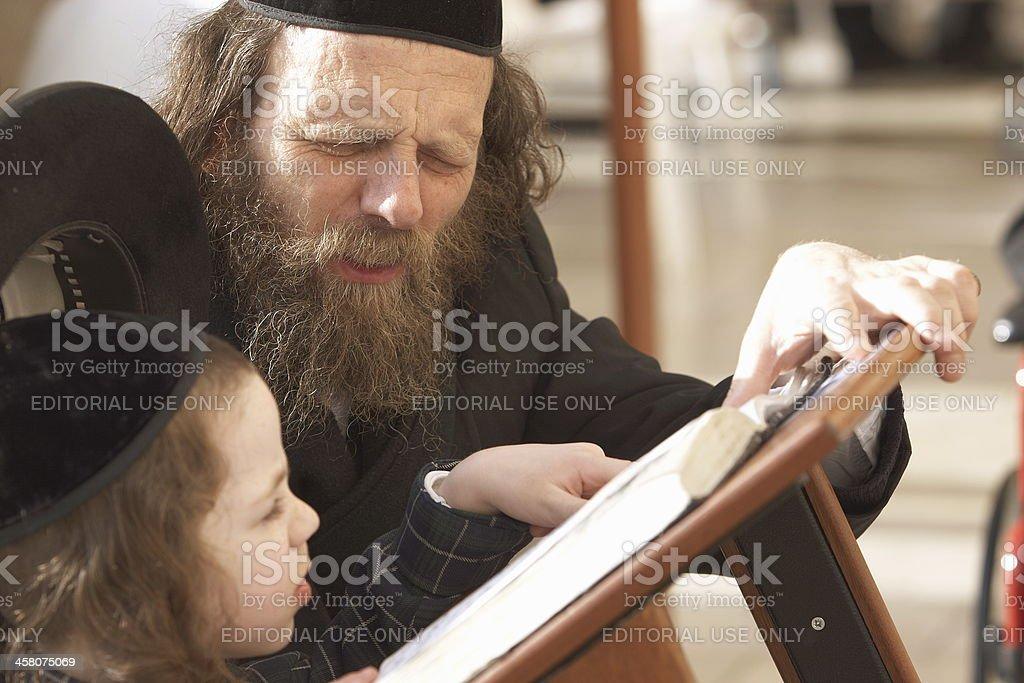 Teaching his faith royalty-free stock photo
