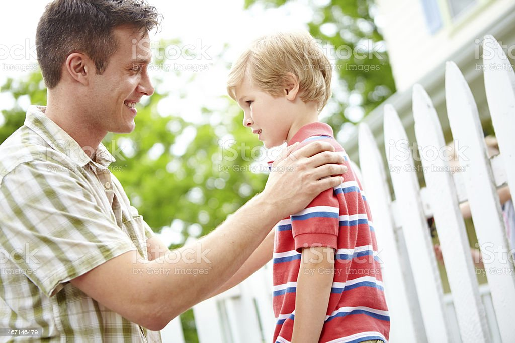 Teaching his son valuable life lessons royalty-free stock photo