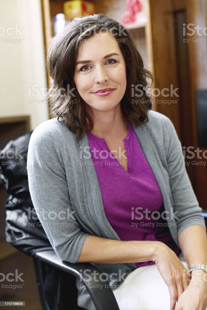 Teaching is her calling! stock photo