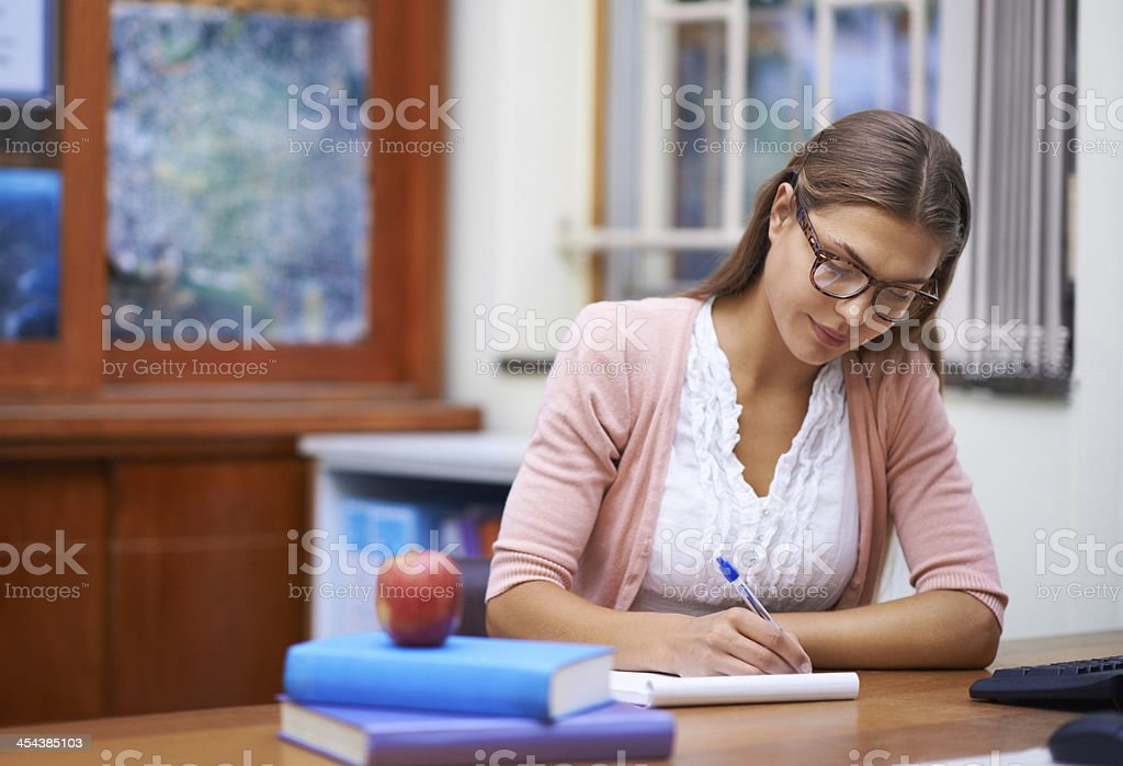 Teaching is one of the most important professions stock photo