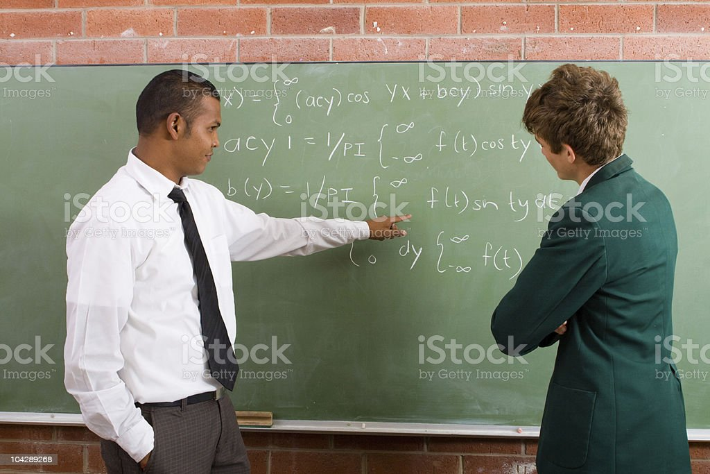 teaching math stock photo