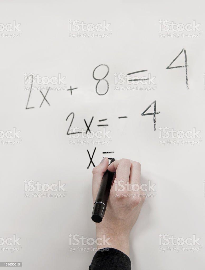 Teaching Math royalty-free stock photo