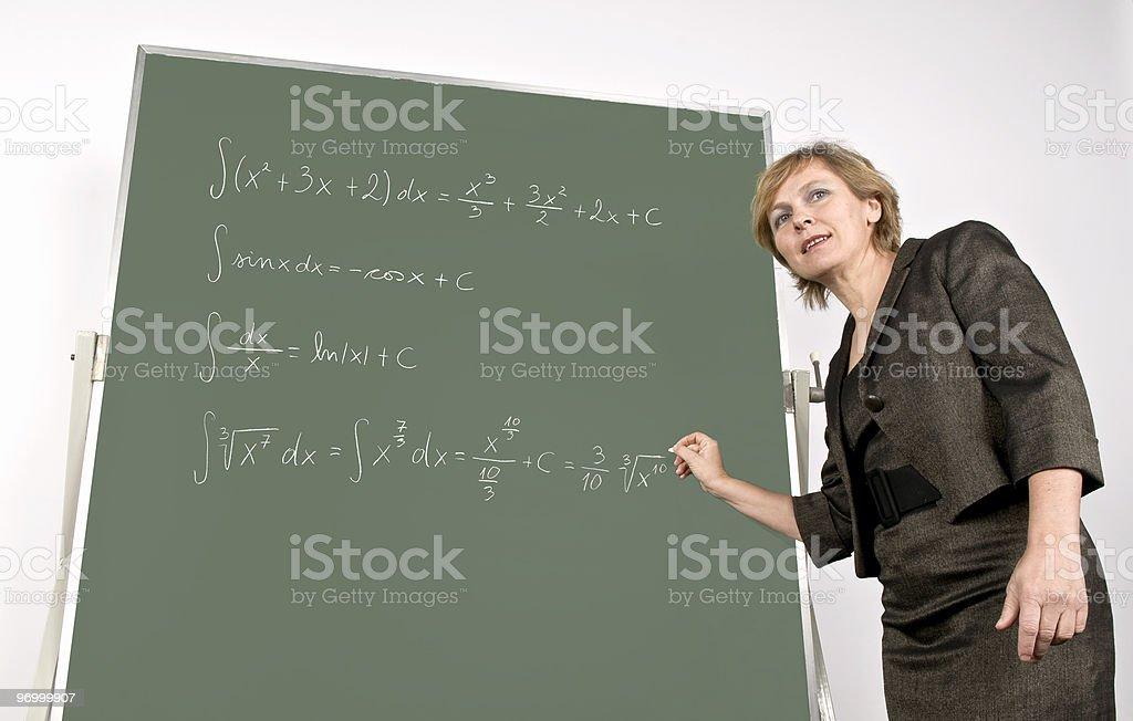 Teaching Maths royalty-free stock photo