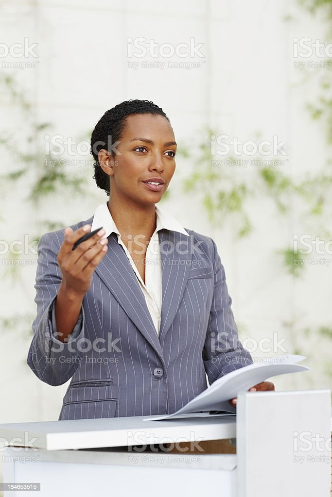 Teaching others business principles royalty-free stock photo