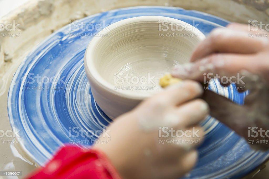 Teaching pottery stock photo