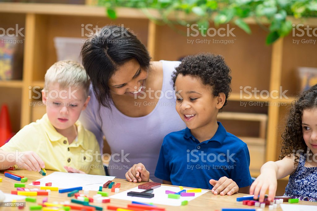 Teaching Students Arts and Crafts stock photo