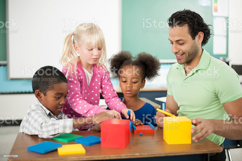 Teaching Students Math in a Creative Way stock photo
