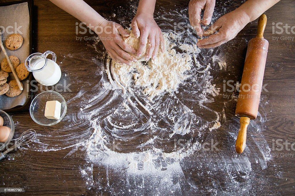 Teaching to bake pastry stock photo