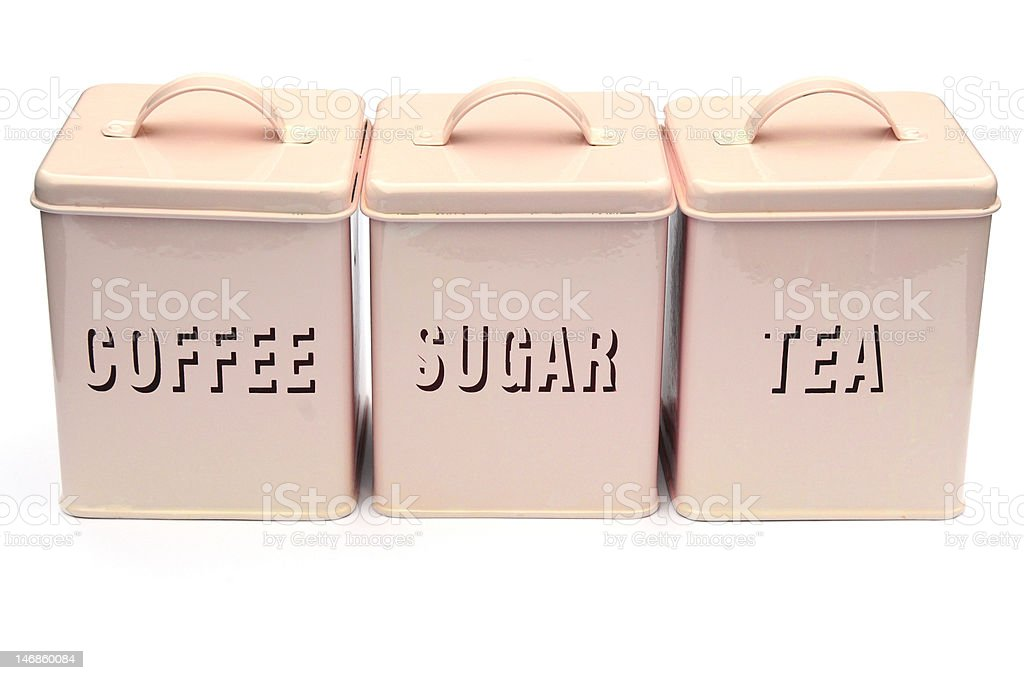 tea,coffee and sugar containers royalty-free stock photo