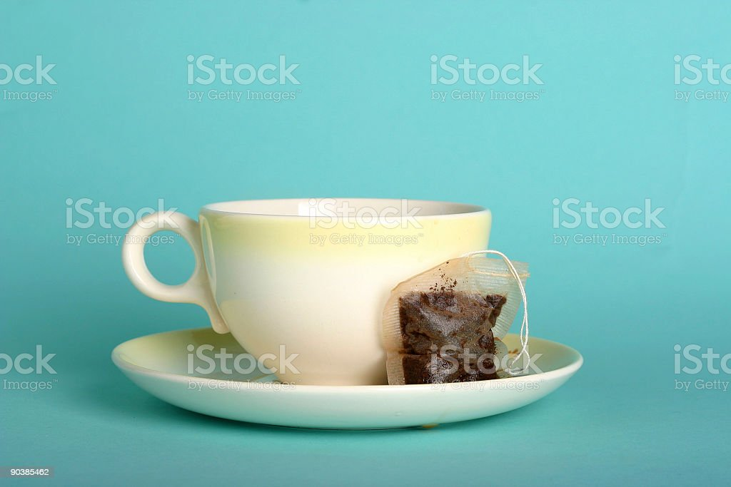 Teacup and bag royalty-free stock photo