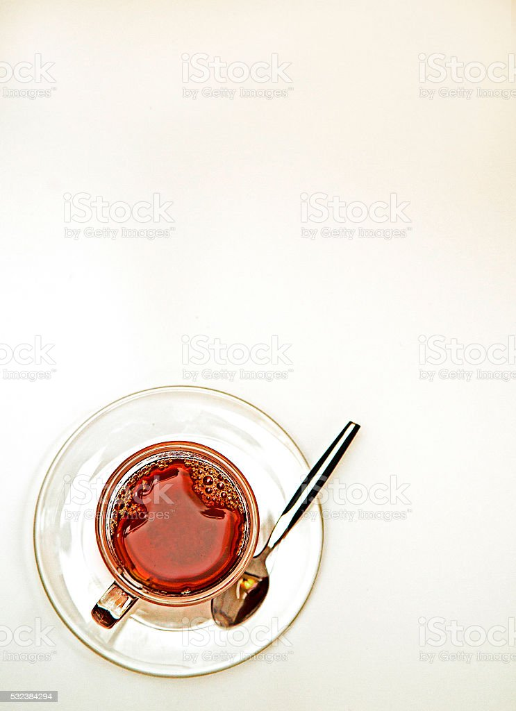 Teacup and Spoon stock photo