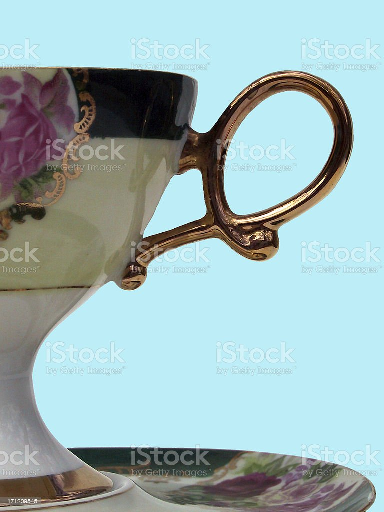 Teacup Handle royalty-free stock photo