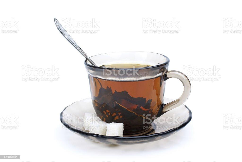 Teacup com Chá Preto foto de stock royalty-free