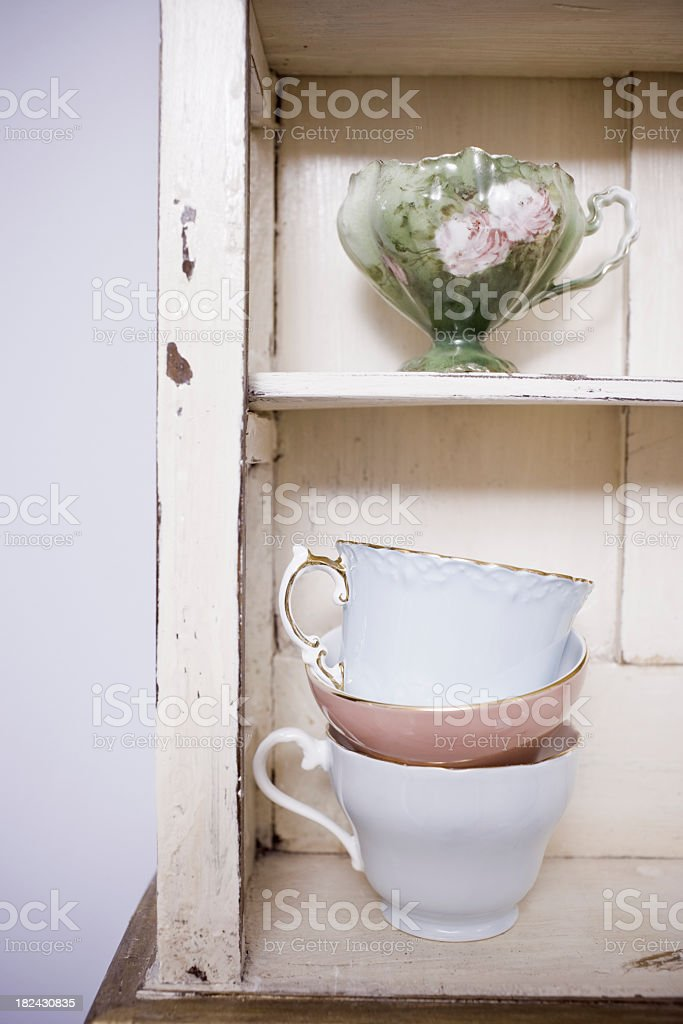 Teacups Home Decor royalty-free stock photo