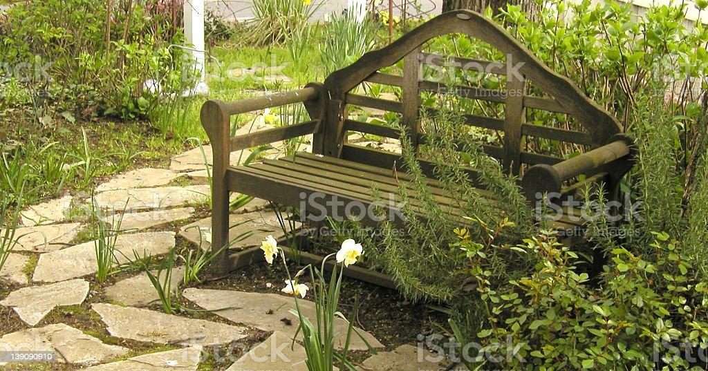 Teahouse Bench royalty-free stock photo