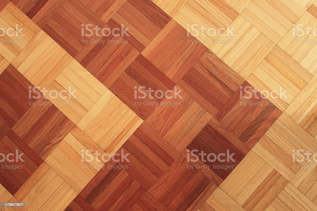 Teak floor of quadratic sticks forming an arrow royalty-free stock photo