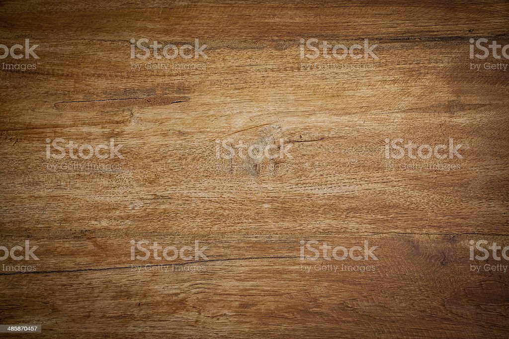 Teak wood background horizontal drop shadow stock photo