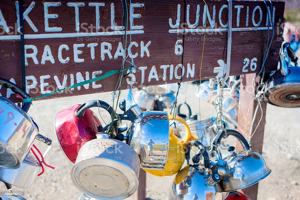 Teakettle Junction in Death Valley , California, United States of America stock photo