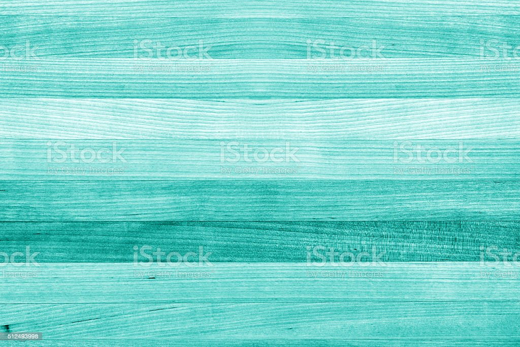 Teal and turquoise wood texture background stock photo
