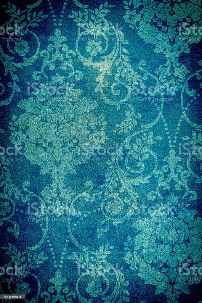 Teal Blue Colored Distressed Background stock photo