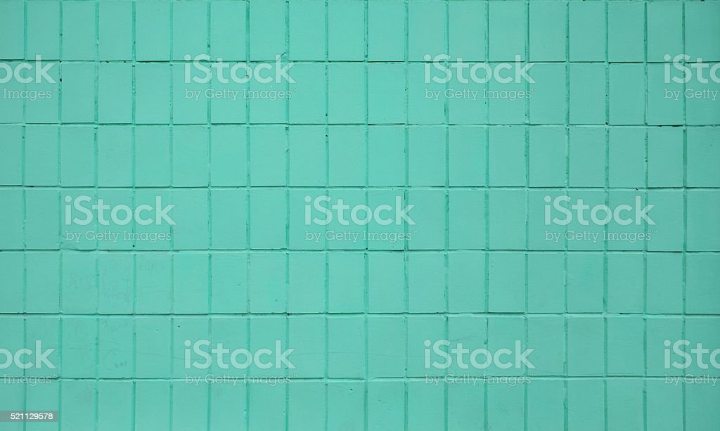 Teal blue painted ceramic tile wall royalty-free stock photo