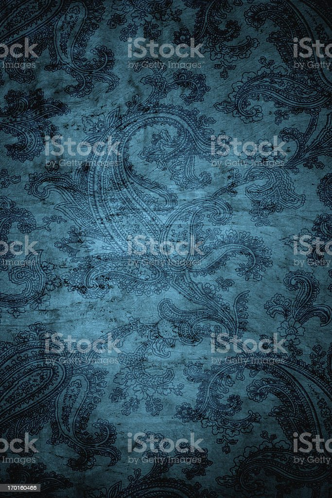 Teal Blue Victorian Background royalty-free stock photo