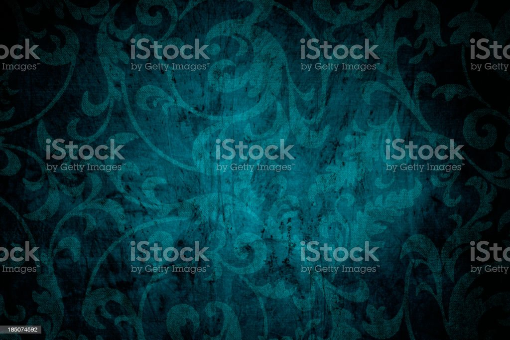 Teal Blue Victorian Background stock photo
