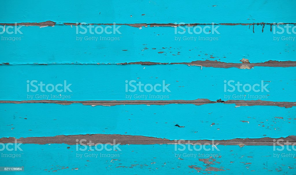 Teal blue vintage painted wooden planks panel stock photo