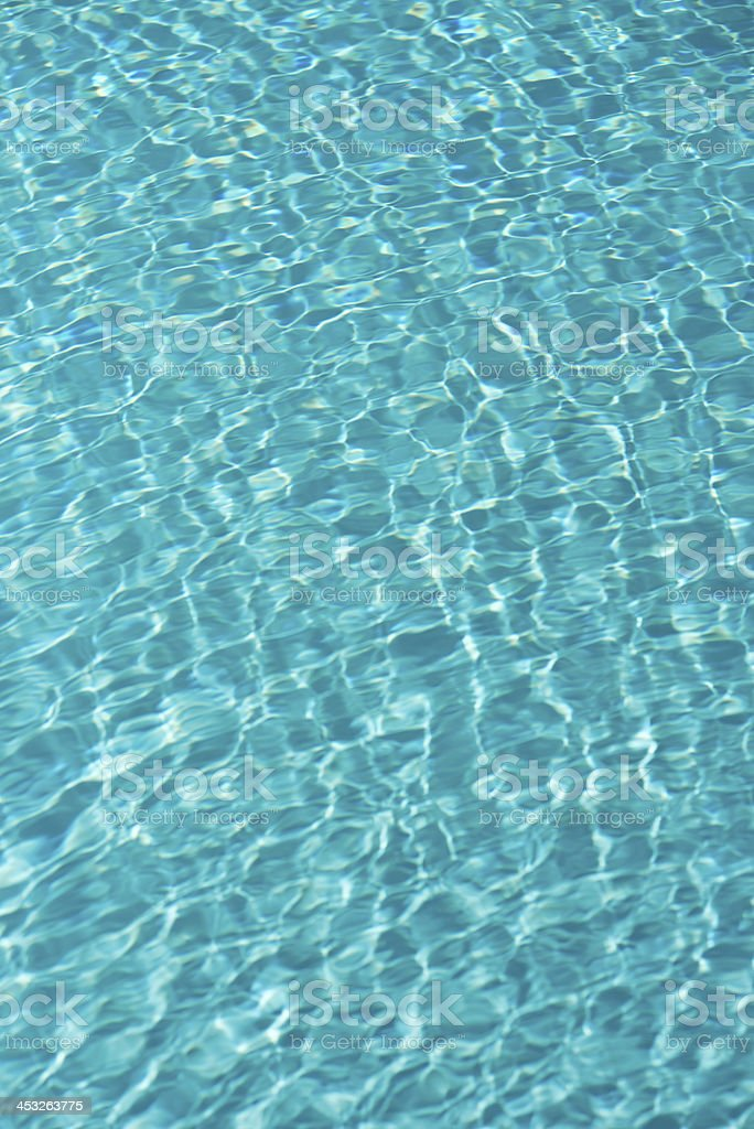Teal Blue Water in a Swimming Pool royalty-free stock photo