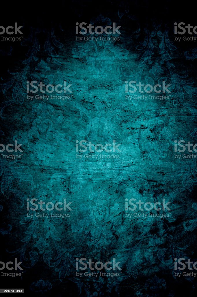 Teal Colored Distressed Background stock photo