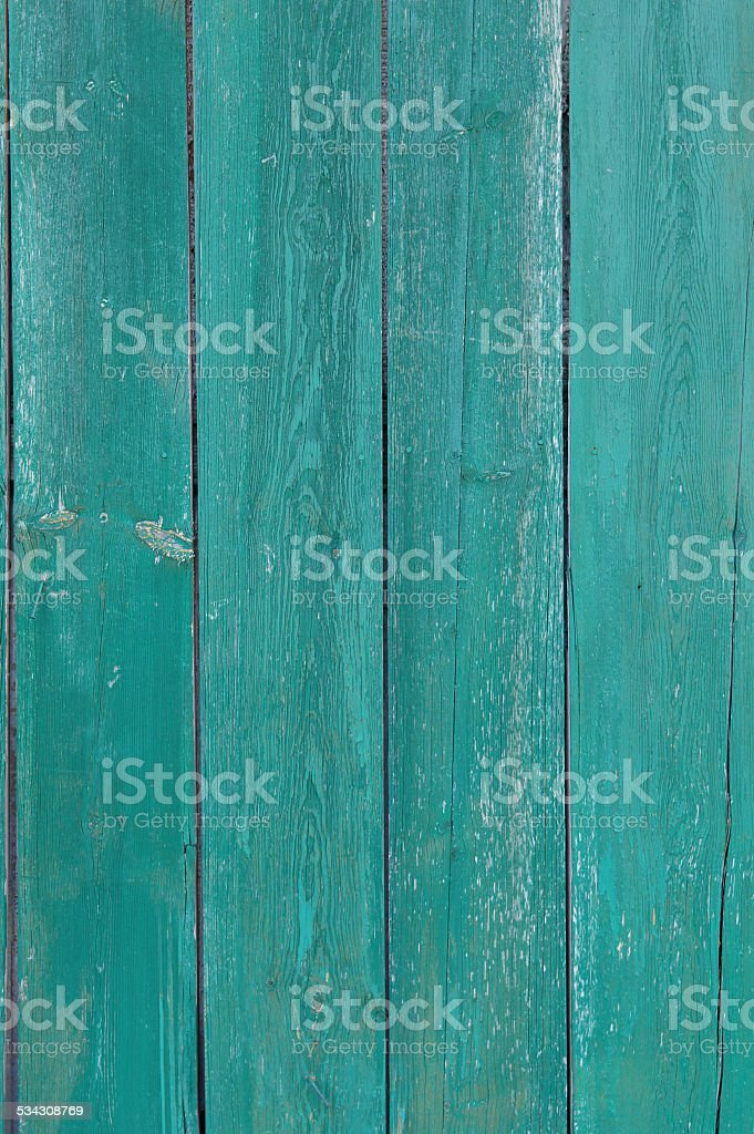 teal painted planks stock photo
