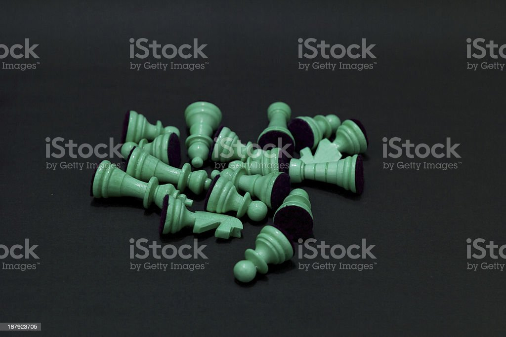 Teal Pawns royalty-free stock photo