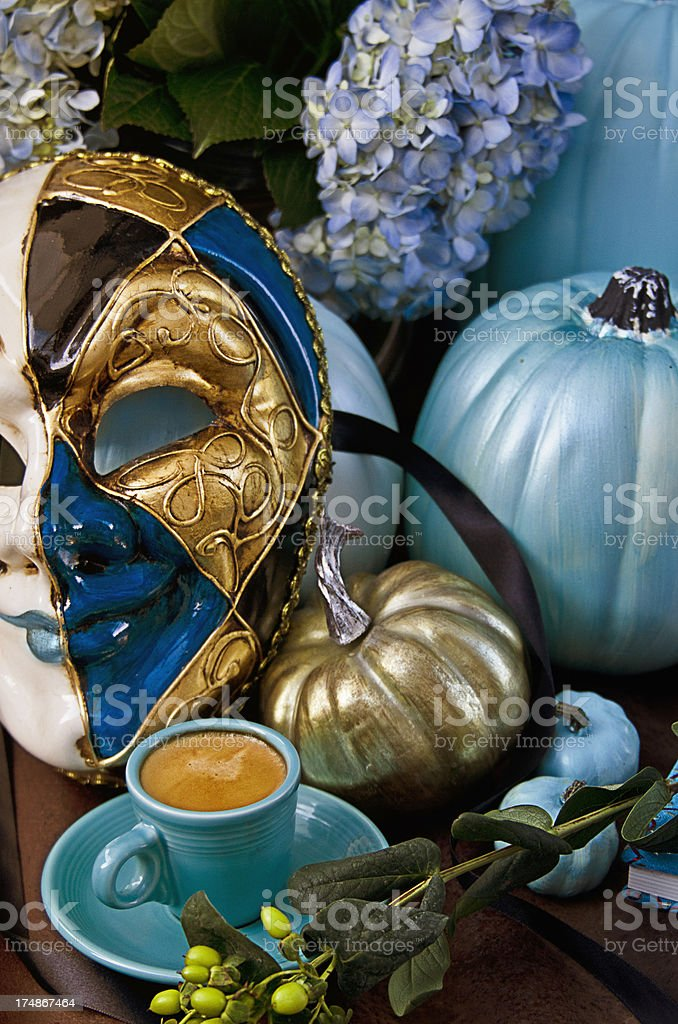Teal Pumpkin royalty-free stock photo