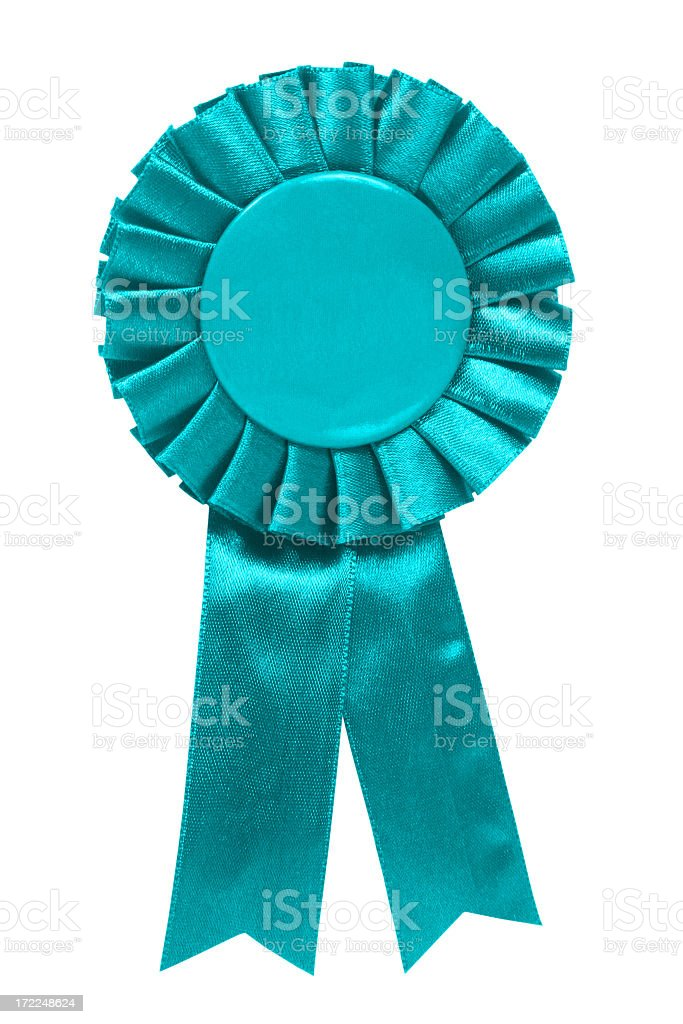 Teal Ribbon royalty-free stock photo