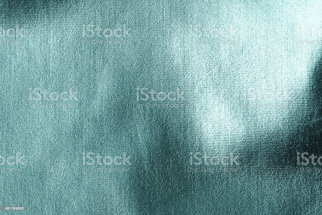 Teal Satin Fabric Background stock photo