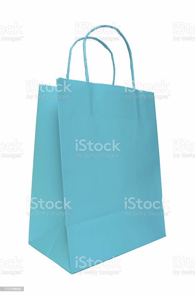 Teal Shopping Bag royalty-free stock photo