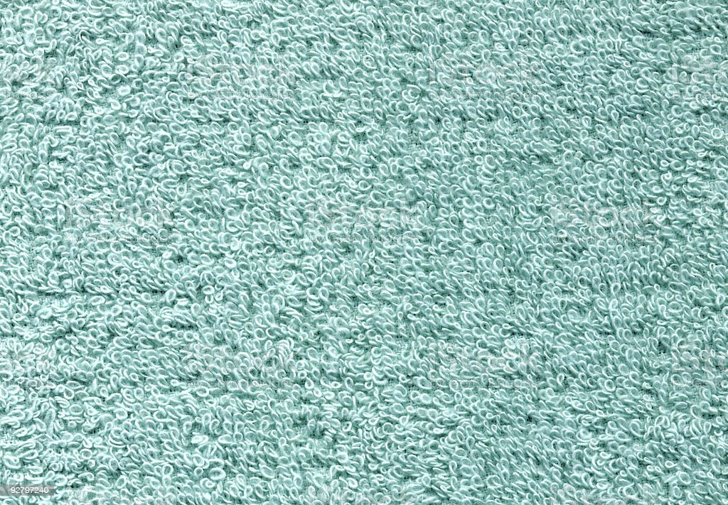 Teal Towel Texture royalty-free stock photo