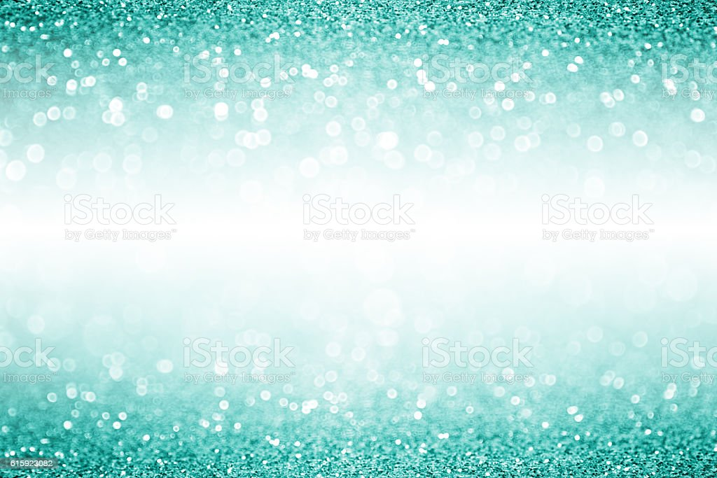Teal Turquoise Aqua White Confetti Christmas Birthday Invite stock photo