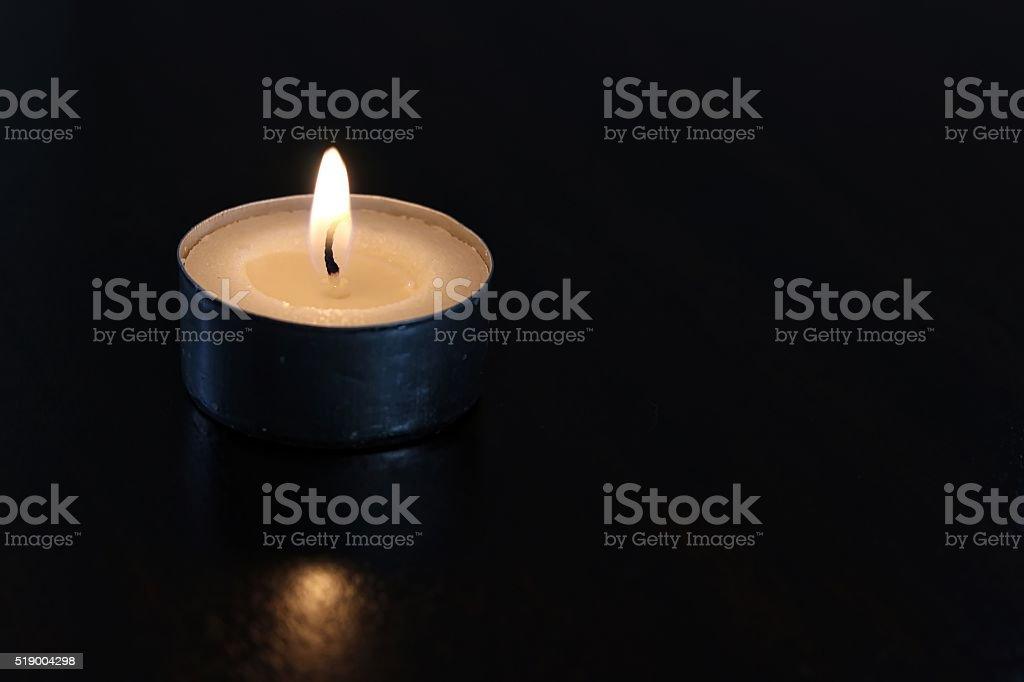 Tealight In The Dark stock photo