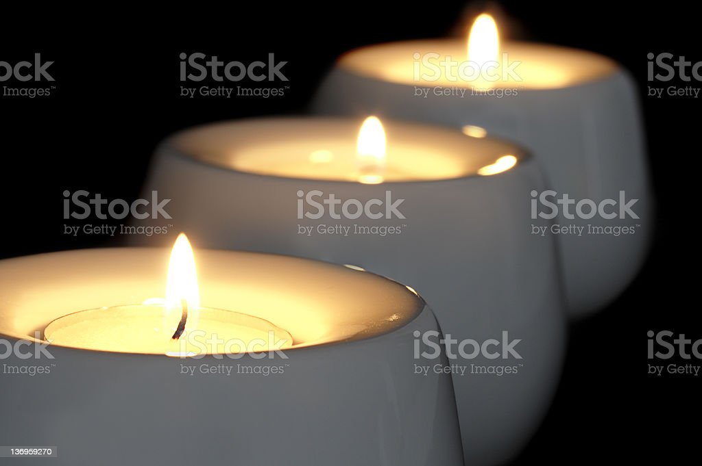 Tealight Meditation stock photo