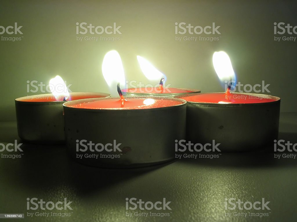 lit tealights royalty-free stock photo