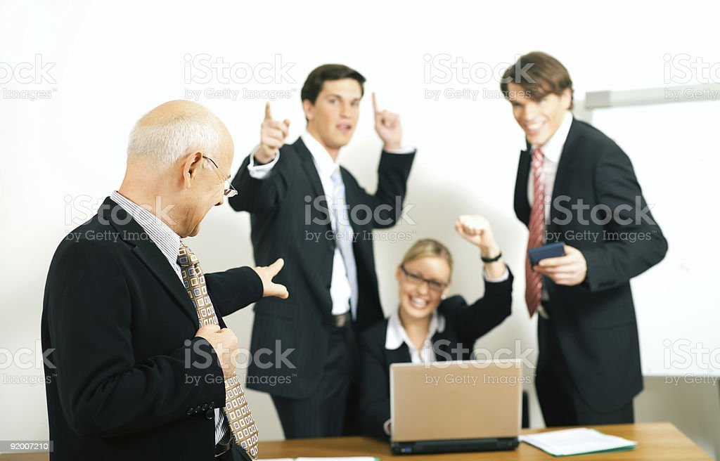 Team and leader royalty-free stock photo